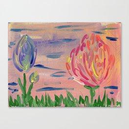 Floral Salmon Canvas Print