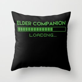 Elder Companion Loading Throw Pillow