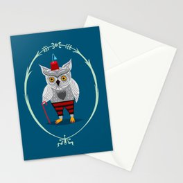 Olaf The Old Grey Owl Stationery Cards
