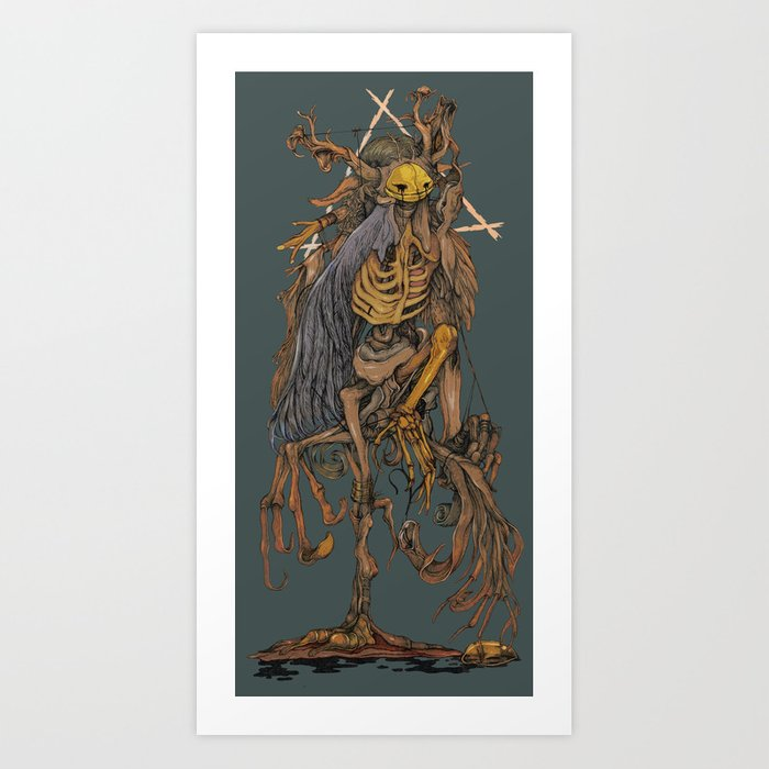 adamant (comic style) Art Print
