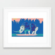 Rino in the Room Framed Art Print