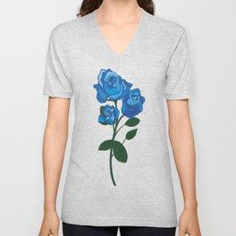 blue rose Unisex V-Neck