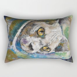 Space Cat Rectangular Pillow