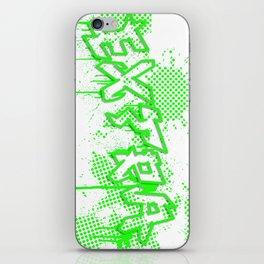 extra splash green grafitti design iPhone Skin