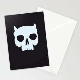 ICY DEMON SKULL Stationery Cards