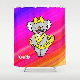 Koalita upskirt Shower Curtain