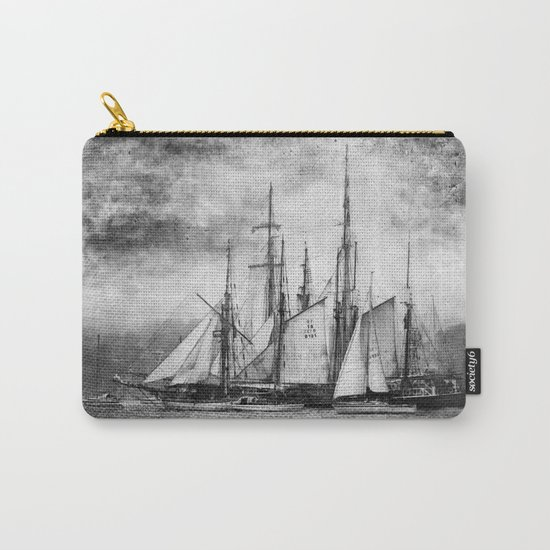 black and white ship Carry-All Pouch