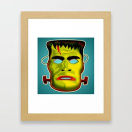 Frankenstein Monster Mask Framed Art Print