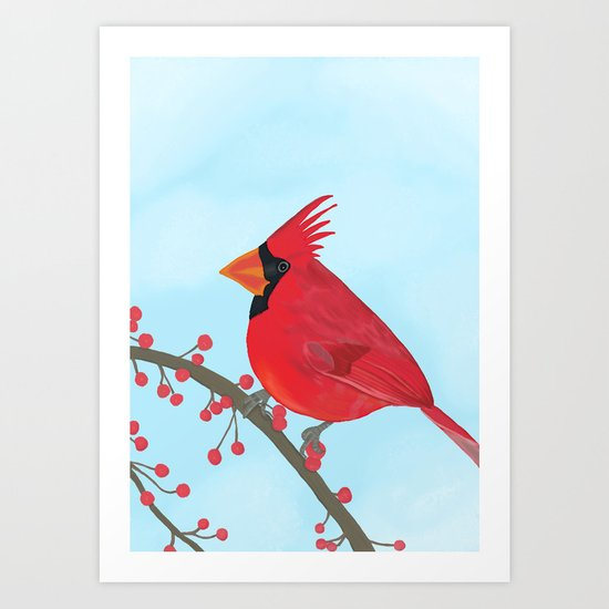 Little Cardinal Art Print