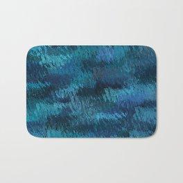 Blue Ice Abstract Art Bath Mat
