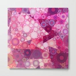 Pink Sherbet Bubbles Metal Print