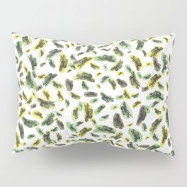 Coloured Falling Feathers Pillow Sham