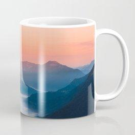 Foggy river Soča at sunrise Coffee Mug