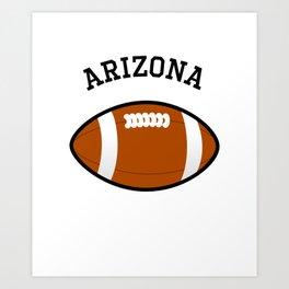 Arizona American Football Design black lettering Art Print