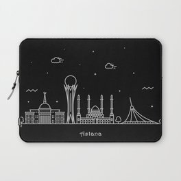 Astana Minimal Nightscape / Skyline Drawing Laptop Sleeve