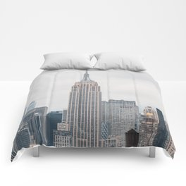 Empire State Building in grey Comforters