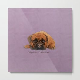 Dogue de Bordeaux Sketch Digital Art Metal Print