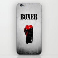 boxer iPhone & iPod Skins featuring Boxer by Louis Arthur