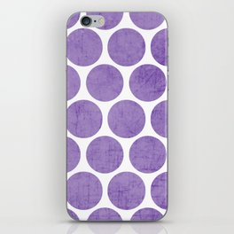 purple polka dots iPhone Skin