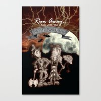 rock n roll Canvas Prints featuring Rock 'N' Roll Circus by Melissa Morrison