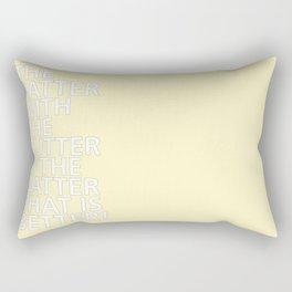 The Batter with the Butter - Tongue Twisters Rectangular Pillow