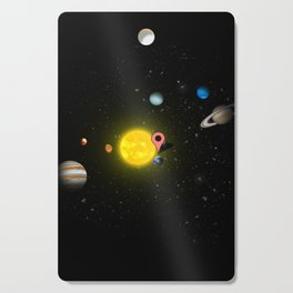 Solar system, you are here Cutting Board