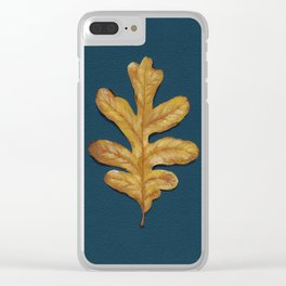 Fall Oak Leaf Painting Clear iPhone Case