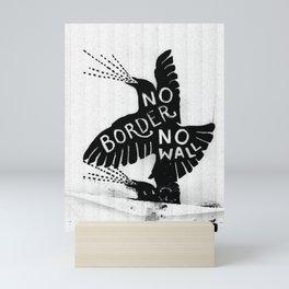 No Border. No Wall. Mini Art Print