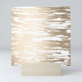 White Gold Sands Paintbrush Mini Art Print