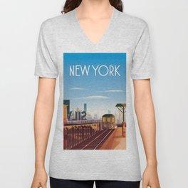 New york city poster Unisex V-Neck