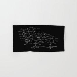 Eames Lounge Chair Diagram Hand & Bath Towel
