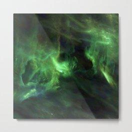 Ghostly Green Smoke Metal Print