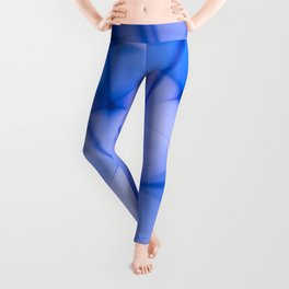 Bright Blue Abstract Ball Repeat Pattern Leggings