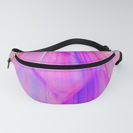 Pink sunset in the glowing city Fanny Pack