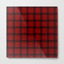 Large Dark Red Weave Metal Print