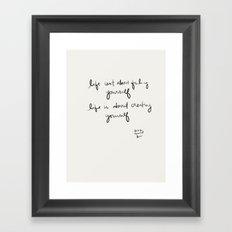 Creating Yourself Framed Art Print