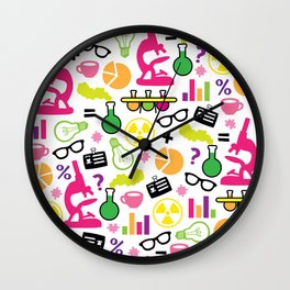 Neon Scientist Wall Clock