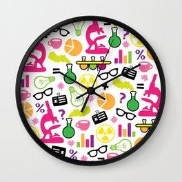 Neon Scientist Wall Clock