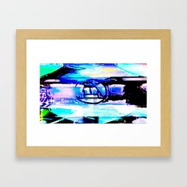 Purple Rune Framed Art Print
