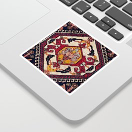 Qashqa'i Fars Persian Antique Tribal Bag Sticker