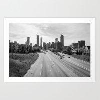 atlanta Art Prints featuring Atlanta by Trey Visions