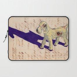 Vintage Celluloid Fox Terrier in Gouache Laptop Sleeve