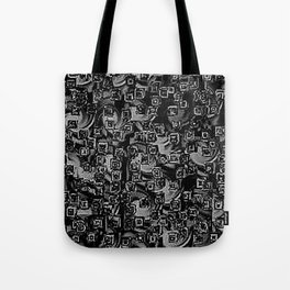Pixelated Boxes Tote Bag