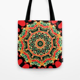 The Red Twirl Maze  Tote Bag