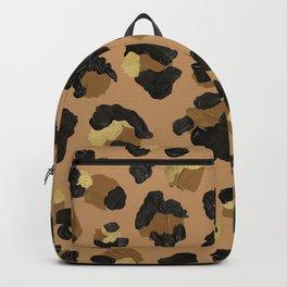 Leopard Print – Neutral & Gold Palette Backpack