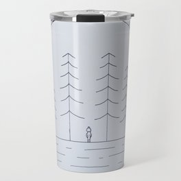 Simple forest drawing Travel Mug