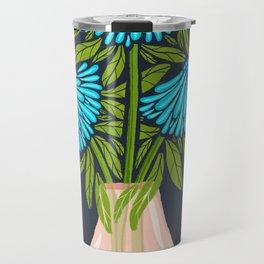 Blue Echinacea Travel Mug