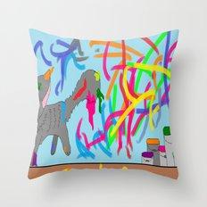 Artistic kitten  Throw Pillow