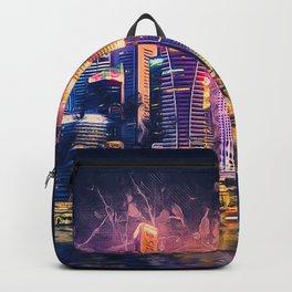 Singapore Night Skyline Backpack