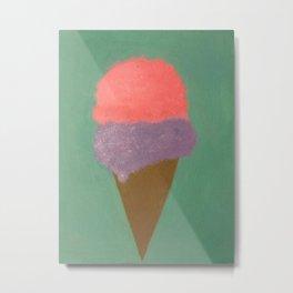 Ice Cream Snow Cone Metal Print